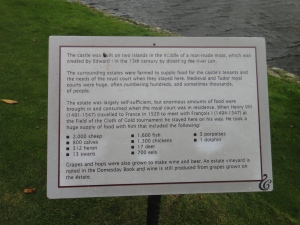 The list of things King Henry VIII brought with him to Leeds Castle