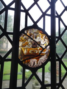 Detail from stained glass window The Treasurer's House
