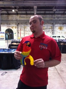 Josh with parrot
