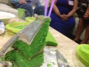 ufo green cake