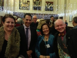 Leife Shallcross, David Versace, Keri Arthur and  Rob Porteous. Aurealis Awards, April 2014