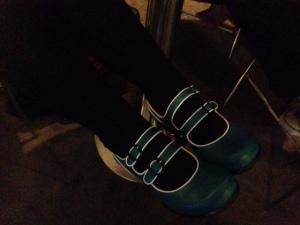 Liz Grzyb's shoes, Fluevogs