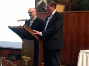 Sean Williams and Simon Brown, Masters of Ceremonies Aurealis Awards