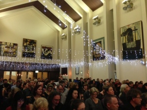University House, Great Hall with lights for the Aurealis Awards Ceremony