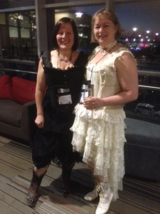 Keri Arthur and me! Leather and Lace, C\cocktail party, RWAus14