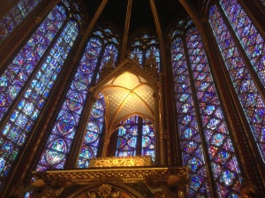 Inside Saint Chapelle, Paris