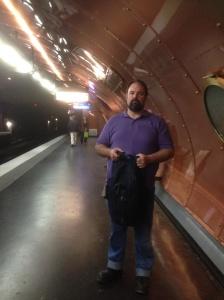 Matthew on the steam punk station