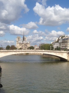 View across the Seine to the Notre Dame