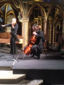 Cello player playing Vivaldi
