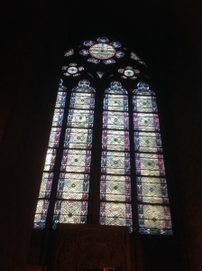 Stained glass window, Notre Dame
