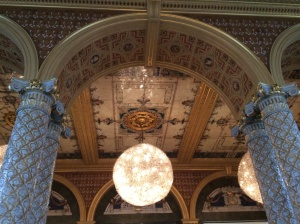 V&A ceiling of the tea room