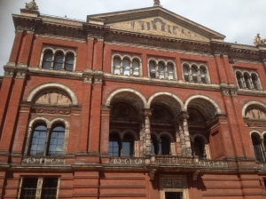 Victoria and Albert Museum taken from the quadrangle