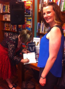 Tasha getting her book signed