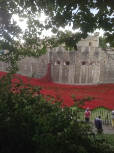 Tower of London, WW1 remembrance day installation