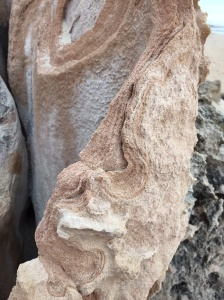 Eroded rock Halls Head