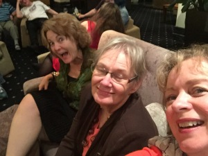 Cat Sparks, Glenda Larke and me.