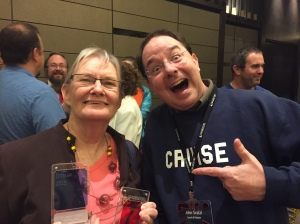 Glenda Larke and John Scalzi, Ditmar Awards Perth 2015