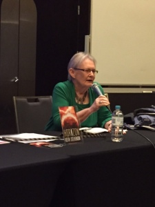 Glenda Larke talking climate science fiction