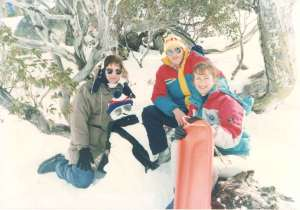 My first time visiting the snow with Sonia and  Clemente