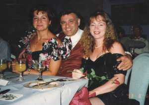 Sonia, Alfred and me at a dinner dance