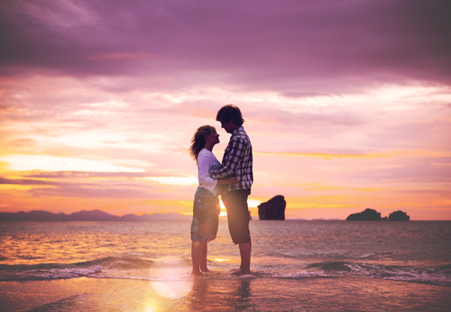 Couple Love Beach Romance Togetherness Concept