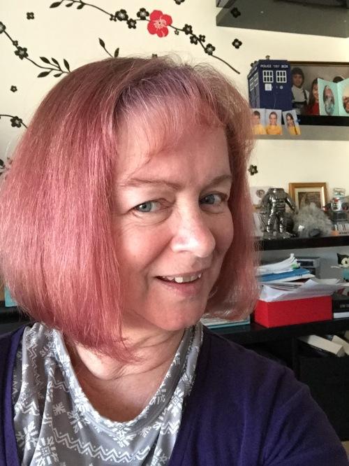 Pink hair donna