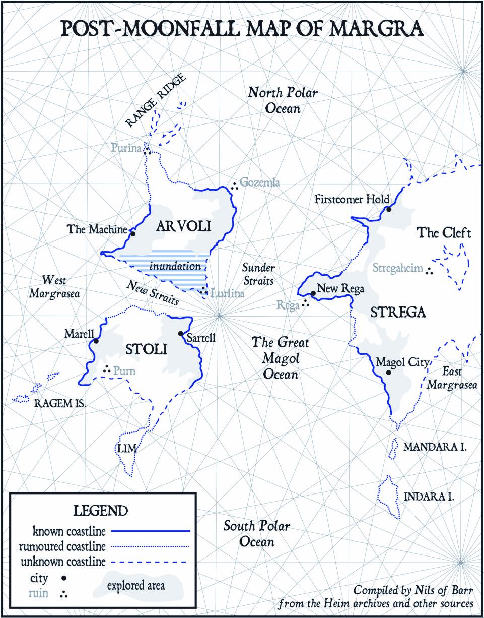 Margra World Map Moonfall 2